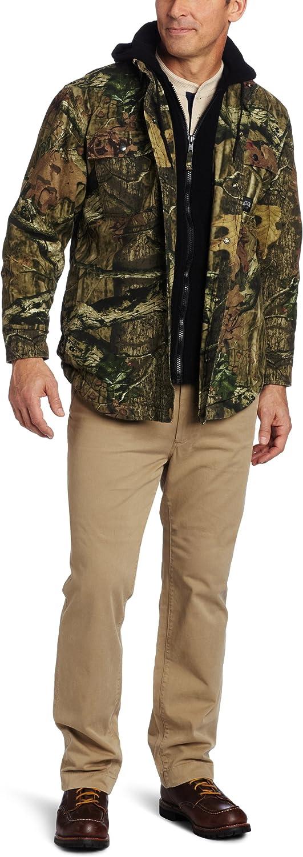 Key Industries Men's Plus Size Mossy Oak Infinity camo Fleece Lined Shirt jac