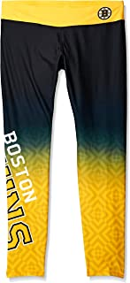 KLEW NHL Boston Bruins Women's Gradient Print Leggings, Black, Medium
