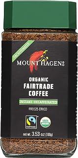 Mount Hagen Organic Freeze Dried Instant Decaf Coffee, 3.53 oz Organic FairTrade Award-Winning House Blend Kosher Decaffei...