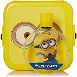 Minions for Kids 2 Piece Gift Set with Edt Spray and Minion Box
