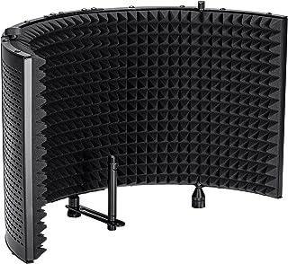 Monoprice Microphone Isolation Shield - Black - Foldable...