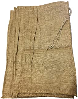AAYU Burlap Sand Bags, sandbags for Flood Control,Water Carving Barrier, Exercise Gardening Preserving Seeds Grow Potatoes or Any Other Purpose, 32 x 14 inch (10 Pack), 26 X 14,(15 & 20 Packs)