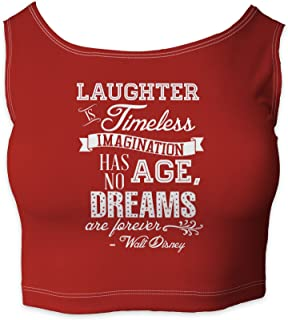 Rainbow Rules Laughter is Timeless Walt Disney Quote Sleeveless Crop Top