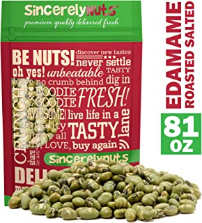 Sincerely Nuts Dried Edamame (Roasted, Salted) - (5 LB) Vegan, Kosher & Gluten-Free Food - Plant-Based Protein - Add to Granola, Salads, Trail Mix, Ice Cream, and Much More