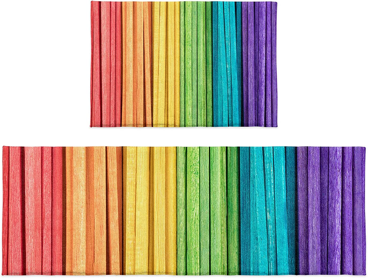 OneHoney 2 Colorado Springs Mall Pieces Outstanding Kitchen Rugs and Mats Rainbow Gradient Set Bra