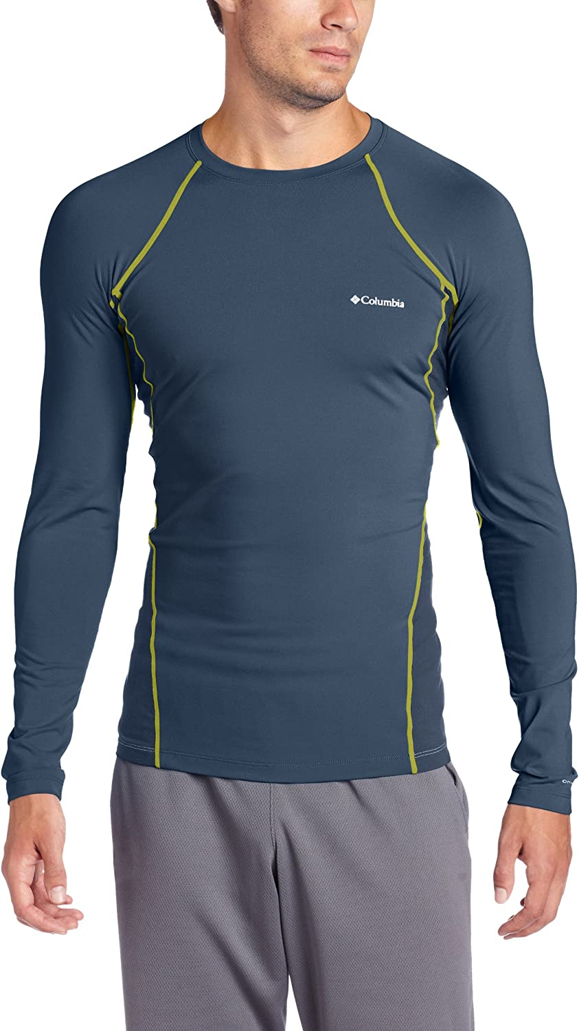 Columbia Men's Baselayer Midweight Long Mystery Lar Top Sleeve Opening large release sale overseas