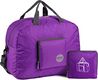 comprar comparacion WANDF Foldable Travel Duffel Bag Super Lightweight for Luggage, Sports Gear or Gym Duffle, Water Resistant Nylon (25L Plum)