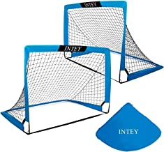 INTEY Soccer Goals, Set of 2- Size 4'x3' Portable Foldable Soccer Nets with Carry Bag for Games and Training for Backyard for Kids and Teens