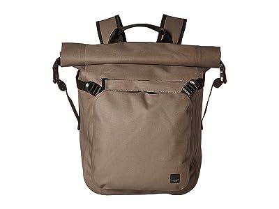 KNOMO London Thames Hamilton Roll Top Backpack (Khaki) Backpack Bags