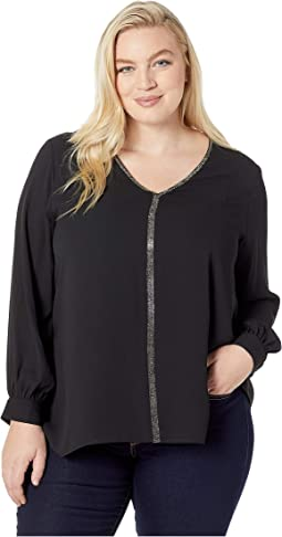 Plus Size Sparkle Long Sleeve Top