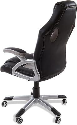 Mc Haus 9701G - Silla de oficina giratoria, 69x52x50 cm, color gris