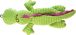 TrustyPup Gator Plush Dog Toy with Silent Squeaker, Green