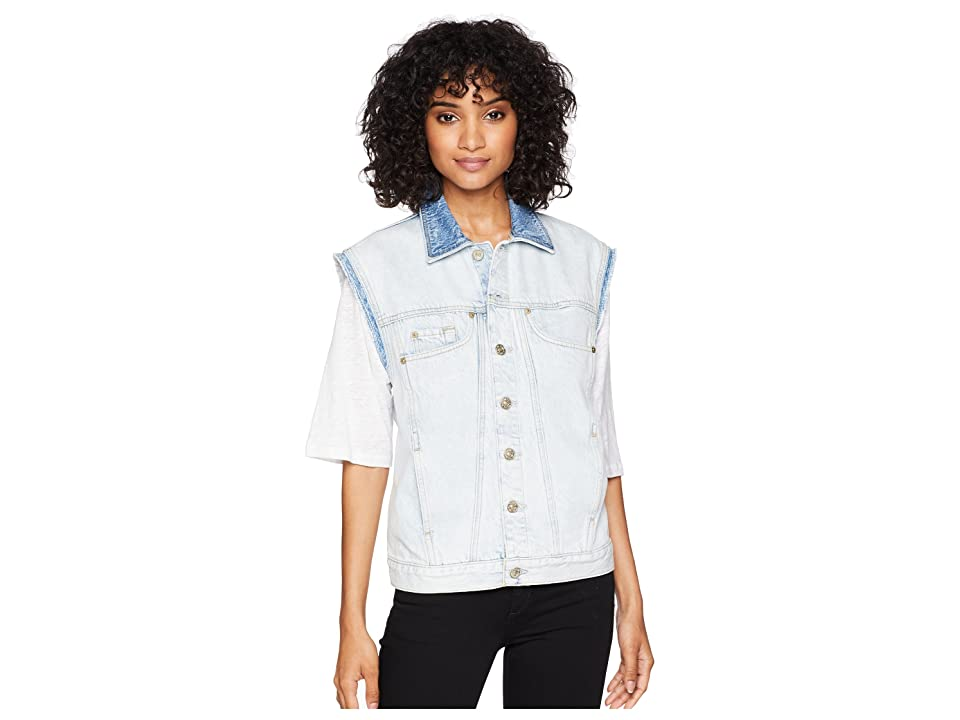 7 For All Mankind Oversize Vest (Cloud Bleach Out 4) Women