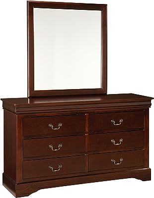 Standard Furniture Lewiston Dresser, Dark Cherry Brown