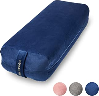 BALAYAGE Meditation Cushion Yoga Bolster Pillow Rectangular, max Support and Firm with Removable Washable Cover Case