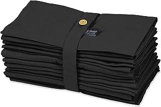 S4Sassy Noire Solide décoration de Maison Serviette De Table Solide pour Utilisation Quotidienne Linge De Table À Manger 1...