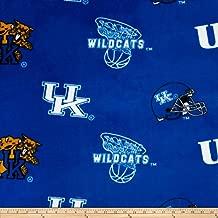 Sykel Enterprises 0317695 Collegiate Fleece University of Kentucky Fabric by The Yard, Blue