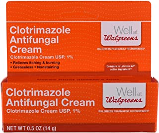 Walgreens Clotrimazole Antifungal Cream 1% Usp, .5 oz