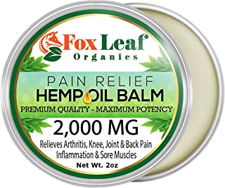Premium Hemp Oil Balm Salve for Pain Relief w/Arnica + Turmeric for Arthritis & Muscle Pain, Inflammation, Joint & Back Pa...