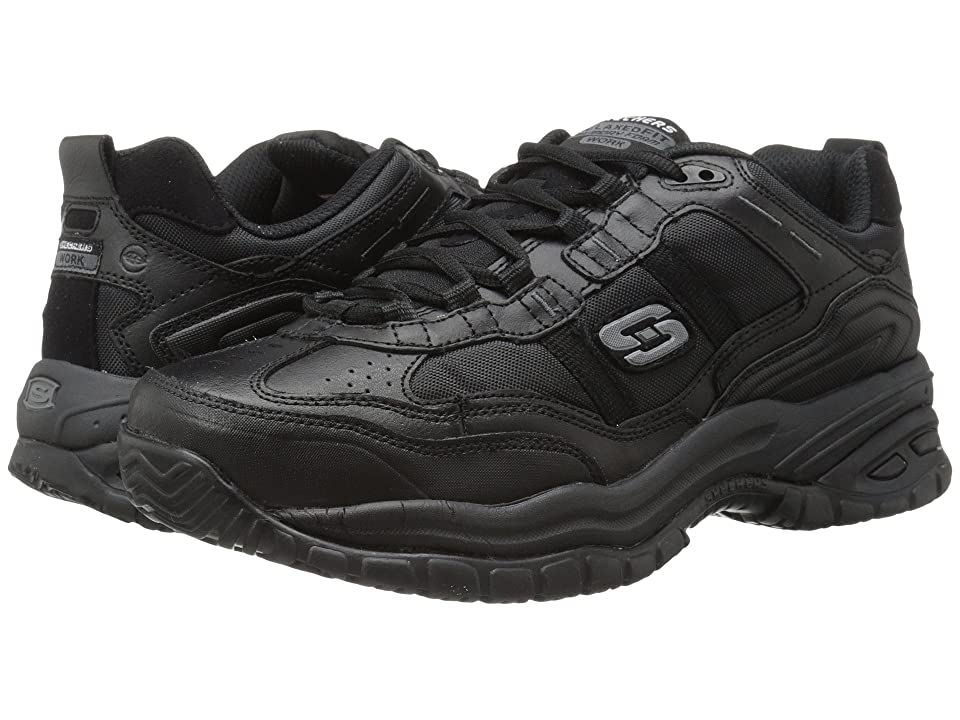 fcb15305855dc SKECHERS Work Soft Stride (Black) Men's Industrial Shoes