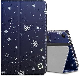NEW-Fire 7 ケース - ATiC Fire 7 タブレット (Newモデル) 2017/第七世代用 全面保護型 薄型スタンドケース 雪花