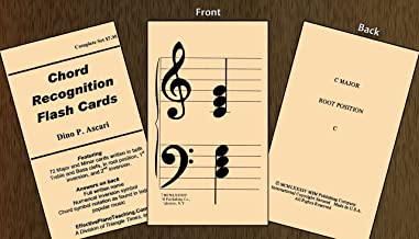 Chord Recognition Flashcards- 72 Major/Minor Cards