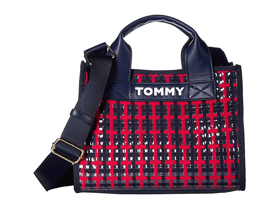 Tommy Hilfiger Laie Convertible Mini Bag (Navy/Red/White) Handbags, Blue