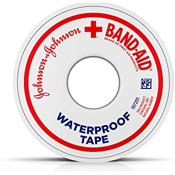 Band-Aid Waterproof Tape .5 Inch, 10 yds, Pack of 2