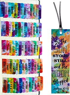 Tie Dye Theme Laminated Bible Tabs (Large Print, Easy to Read), Personalized Bible Journaling Supplies, 120 Bible Index Ta...