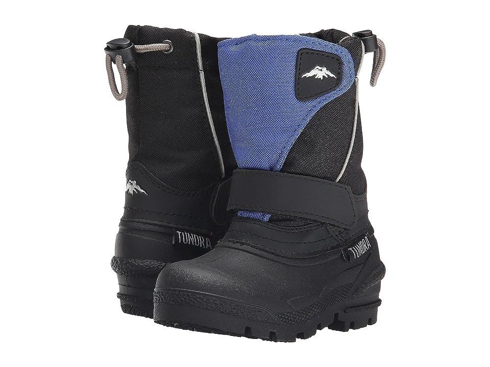 Tundra Boots Kids Quebec (Toddler/Little Kid/Big Kid) (Black/Royal) Boys Shoes