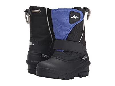 Tundra Boots Kids Quebec (Toddler/Little Kid/Big Kid) (Black/Royal) Boys Shoes