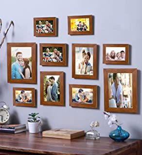 Art Street - Even Set of 10 Individual Brown Photo Frame Frames (Mix Size) (6 Units 4X6, 2 Units 5X7, 2 Units 8X10)