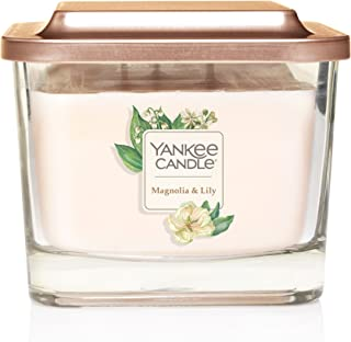 Yankee Candle Elevation Collection with Platform Lid Magnolia & Lily Scented Candle, Medium 3-Wick, 38 Hour Burn Time