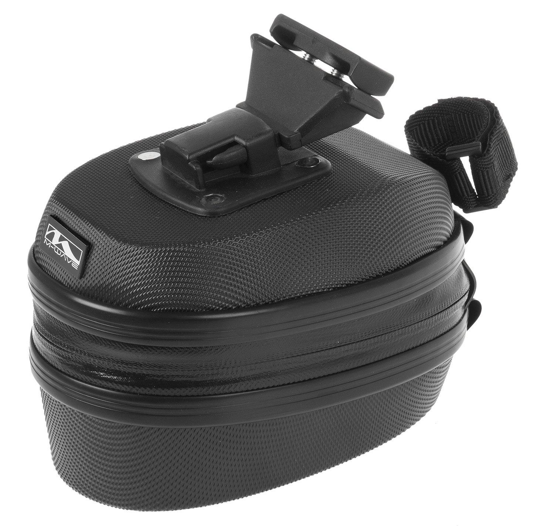 M-Wave Tilburg HC-L Satteltasche Hardcase, schwarz, 18x12x10 cm