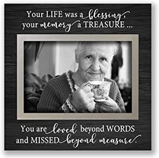 Bereavement gift desktop picture frame, loss of loved one friend mother father tabletop Black 52