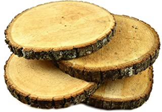 Woodlandia Basswood Disk 8x1 Inches - 4 Pack