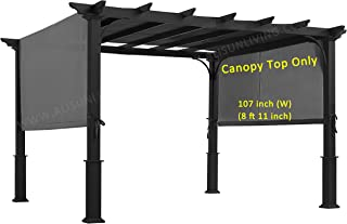 ALISUN Sling Canopy (with Ties) for 10 FT Pergola #S-J-110 & TP15-048C (Charcoal) (Canopy TOP ONLY)