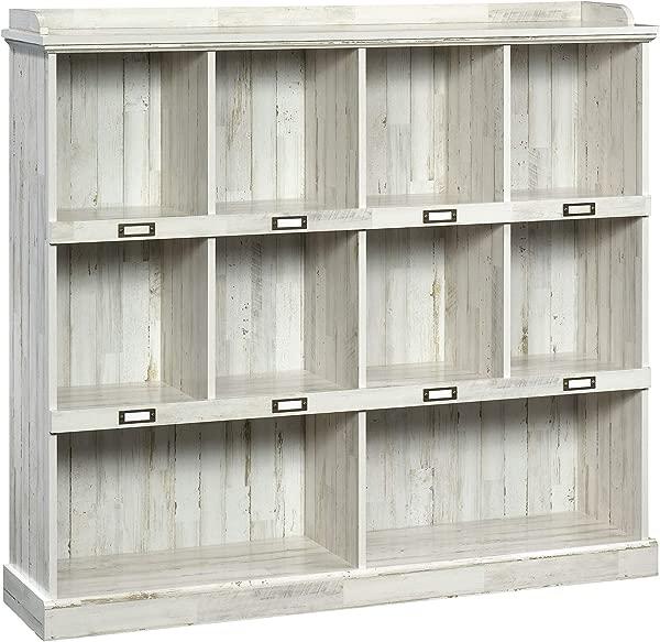 Sauder 423672 Barrister Lane Bookcase White Plank Finish