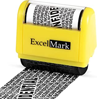 ExcelMark Wide Rolling Identity Theft Guard Stamp – Secure Identity Theft Protection