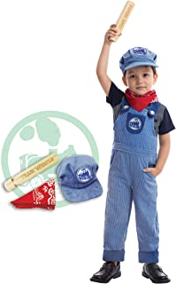 Spooktacular Creations Train Engineer Costume Deluxe Set for Kids Halloween Party Dress Up, Roleplay and Cosplay (S (5-7yr))