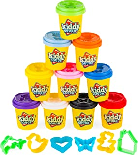 Valentines Gifts for Kids Great for Easter Baskets Gluten Free Play Dough for Kids Sensory Playdough 10 Pack Non-Toxic Aroma Dough Aromatherapy Dough All Natural Aromas! Soy-Free Organic