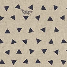 Wolves Natural - Echino Triangle - Kokka Japan Cotton/Linen Canvas Fabric