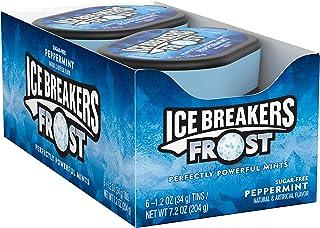 ICE BREAKERS Frost 无糖薄荷糖, 薄荷味, 1.2盎司(34g) (6件装)