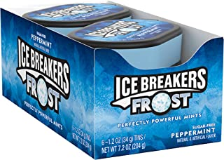 ICE BREAKERS Frost Sugar Free Mints, Peppermint, 1.2 Ounce (Pack of 6)