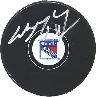 Wayne Gretzky New York Rangers Signed Autographed Rangers Logo NHL Hockey Puck COA