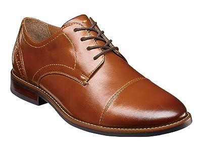 Nunn Bush Fifth Ward Flex Cap Straight Toe Oxford (Cognac) Men