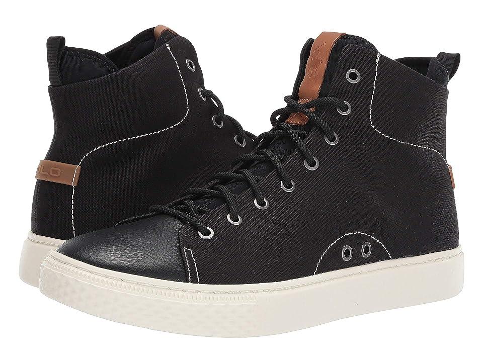 Polo Ralph Lauren Delaney (Black Canvas/Leather) Men