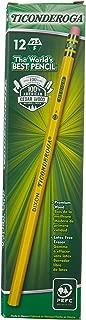 Ticonderoga Woodcase Pencil, F #2.5, Yellow Barrel, 12 per pack [Set of 3]