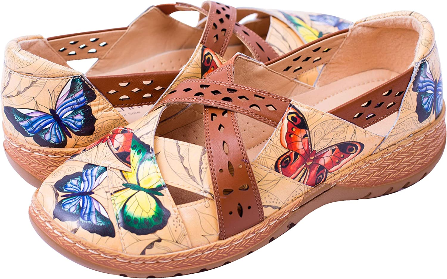 Anuschka Max 48% OFF 4217 Women's Printed Leather Jane - Mary New mail order Diana