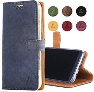 Snakehive Samsung Galaxy S8 Plus Case, Genuine Leather Wallet with Viewing Stand and Card Slots, Flip Cover Gift Boxed and Handmade in Europe for Samsung Galaxy S8 Plus - Navy Blue